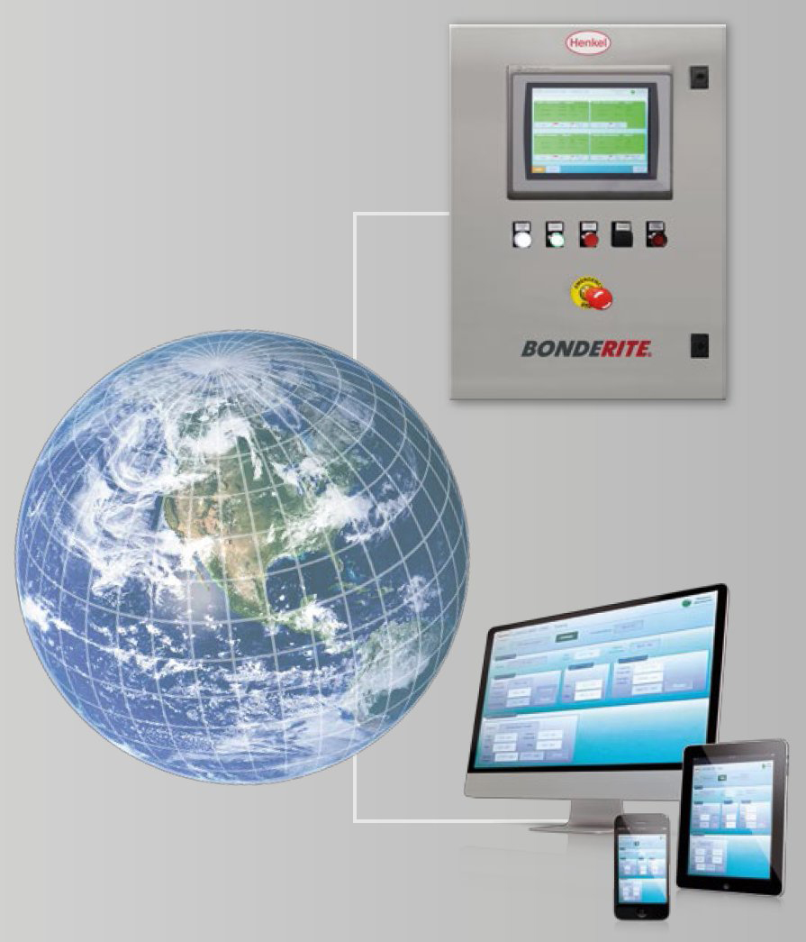 Henkel's Bonderite E-CO DMC metal pretreatment process control system provides access for remote devices