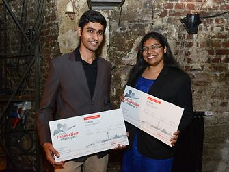 "Mayank Nandwani and Geetika Goel from India convinced the jury with their concept ""eCoat"" and won the third prize."