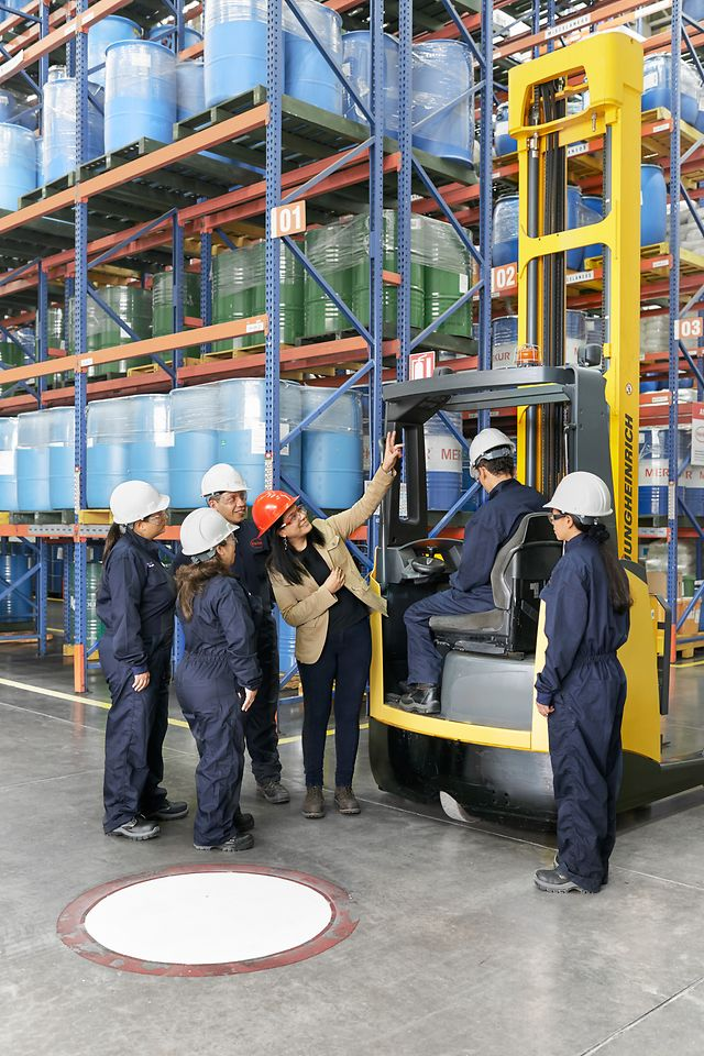 Employees in warehouse